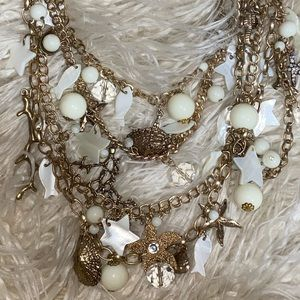 Seashell fashion jewelry necklace.